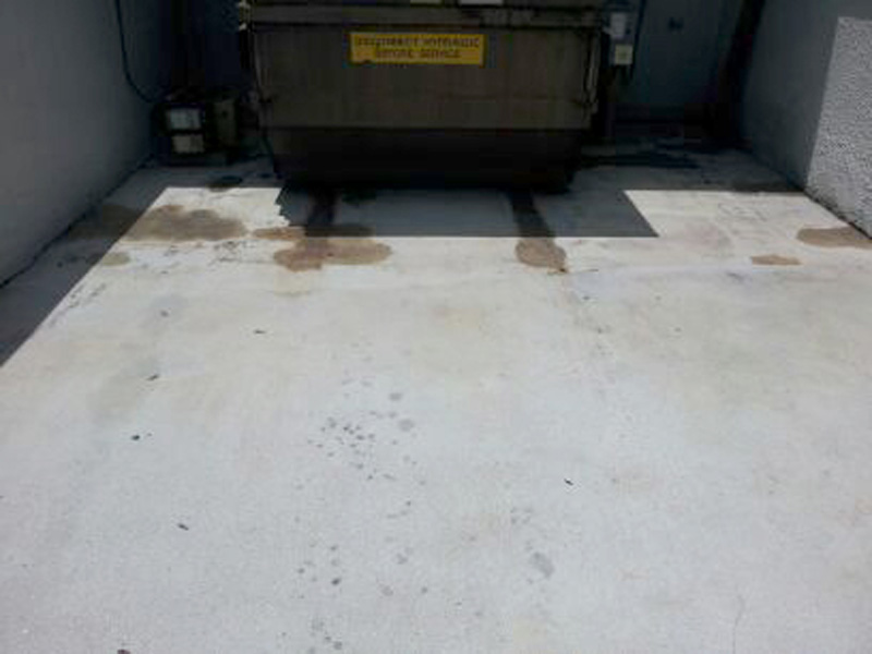 Rust removal service in los angeles ca for Clean rust off concrete patio